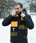 Black & Gold Stripe Scarf